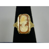 R308~ 14k Cameo Ring