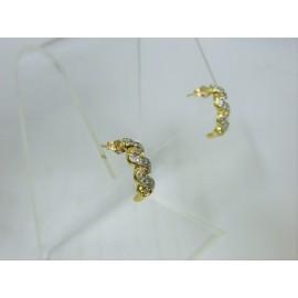 E113 ~ 10k Diamond Earrings