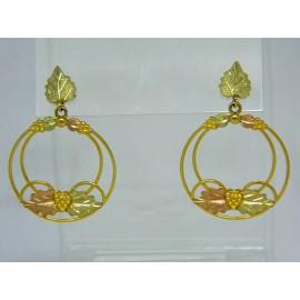 E180 ~ 10k Black Hills Gold Earrings