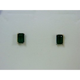 E588 ~ 14k Emerald Earrings