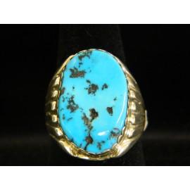 Navajo Turquoise Men's Ring