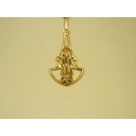 P126 ~ 10k Vintage Diamond Pendant