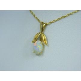 P262 ~ 14k Opal Pendant