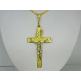P321 ~ 14k Gold Crucifix Pendant