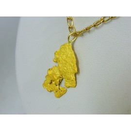 PNUG578 ~ Gold Nugget Pendant