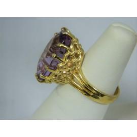 R1034 ~ 14k Large Amethyst Ring