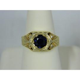 R1187 ~ 14k 1 1/2 ct. Sapphire & Diamond Ring