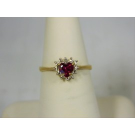 R238 ~ 10k Ruby & Diamond Ring