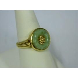 R378 ~ 14k Jade Ring