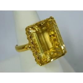 R448 ~ 18k Large Citrine Ring