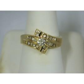 R525 ~ 10k .25 Round Diamond Ring