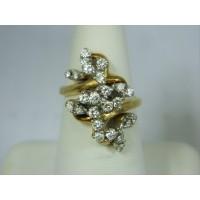 R594 ~ 14k 24-Diamond Ring