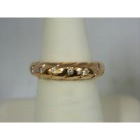 R598 ~ 14k Rose Gold Diamond Ring