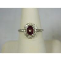 R655 ~ 18k Ruby & Diamond Ring