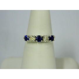 R684 ~ 14k Sapphire & Diamond Ring