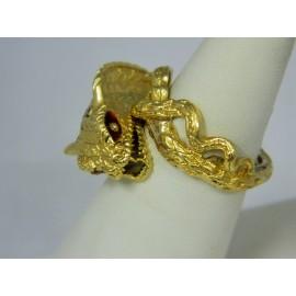 R997 ~ 18k Enamel Inlay Snake Ring